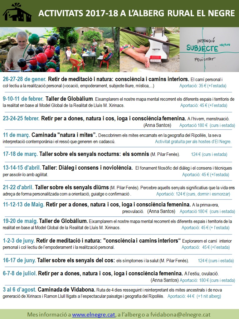 Calendari Activitats 17-18nou
